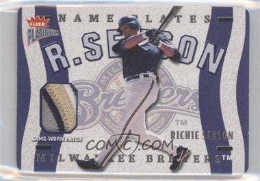 2003 Fleer Platinum Nameplates #N-RS - Richie Sexson /160