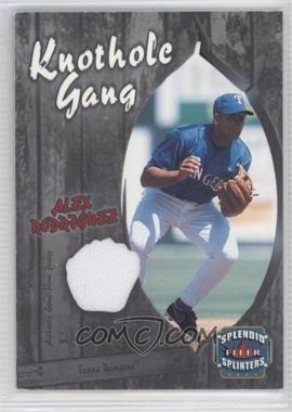 2003 Fleer Splendid Splinters - Knothole Gang Jersey #AR-KG - Alex Rodriguez