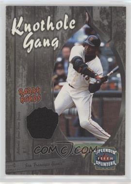 2003 Fleer Splendid Splinters - Knothole Gang Jersey #BB-KG - Barry Bonds