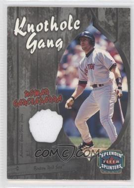2003 Fleer Splendid Splinters - Knothole Gang Jersey #NG-KG - Nomar Garciaparra