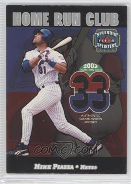 2003 Fleer Splendid Splinters Home Run Club Memorabilia [Memorabilia] #N/A - Mike Piazza /599