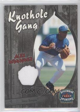 2003 Fleer Splendid Splinters Knothole Gang Jersey #AR-KG - Alex Rodriguez