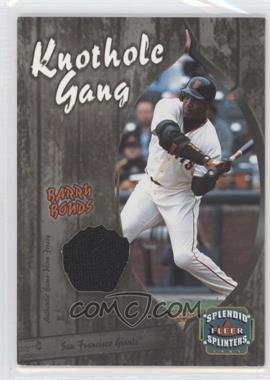 2003 Fleer Splendid Splinters Knothole Gang Jersey #BB-KG - Barry Bonds
