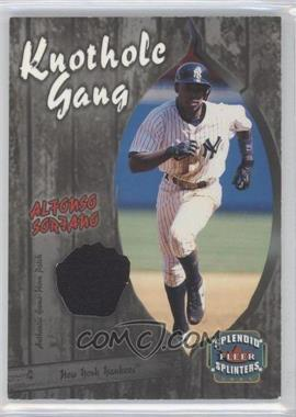 2003 Fleer Splendid Splinters Knothole Gang Patch #AS-KGP - Alfonso Soriano /99