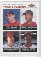 Troy Glaus, Garret Anderson, Jarrod Washburn, Ramon Ortiz