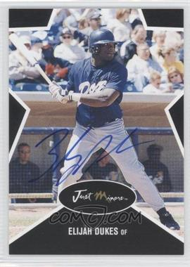 2003 Just Minors Just Stars - [Base] - Black Autographs [Autographed] #15 - Elijah Dukes /25