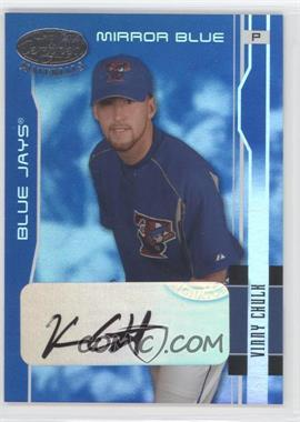 2003 Leaf Certified Materials - [Base] - Mirror Blue Signatures [Autographed] #194 - Vinnie Chulk /50