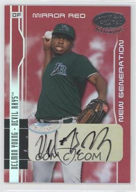 2003 Leaf Certified Materials Mirror Red Signatures #259 - Delmon Young /50