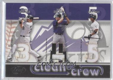 2003 Leaf Clean Up Crew Materials [Memorabilia] #5 - Larry Walker, Todd Helton, Jay Payton /50
