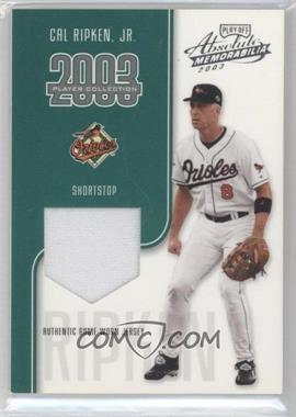 2003 Playoff Absolute Memorabilia - Player Collection #CARI - Cal Ripken Jr. /75