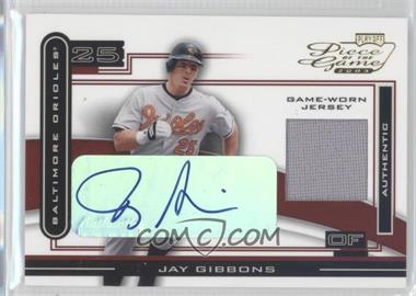 2003 Playoff Piece of the Game Autographs [Autographed] #POG-49 - Jay Gibbons