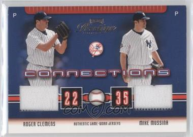 2003 Playoff Prestige Connections Materials [Memorabilia] #C-41 - Roger Clemens, Mike Mussina