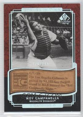 2003 SP Legendary Cuts - Etched in Time - Holofoil #ET-RO - Roy Campanella /175