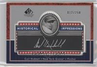 Carl Hubbell /250