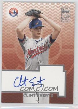 2003 Topps - Certified Autographs - [Autographed] #TA-CE - Clint Everts