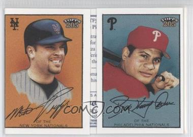 2003 Topps 205 Triple Folders Brooklyn Back #TF33 - Bobby Abreu, Mike Piazza