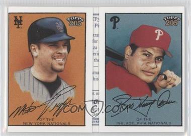 2003 Topps 205 Triple Folders Brooklyn Back #TFN/A - Mike Piazza, Bobby Abreu