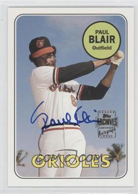 2003 Topps All-Time Fan Favorites Autographs #FFA-PB - Paul Blair