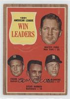 1961 American League Win Leaders (Whitey Ford, Frank Lary, Steve Barber, Jim Bu…
