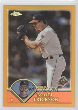 2003 Topps Chrome - [Base] - Gold Refractor #299 - Scott Erickson /449