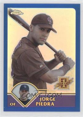 2003 Topps Chrome Traded & Rookies - [Base] - Refractor #T190 - Jorge Piedra