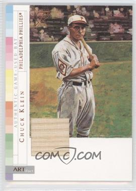 2003 Topps Gallery - Authentic Relics #ARCK - Chuck Klein