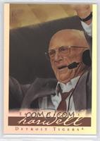 Ernie Harwell (red tie)