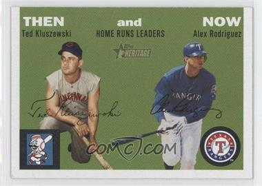 2003 Topps Heritage - Then and Now #TN1 - Alex Rodriguez, Ted Kluszewski