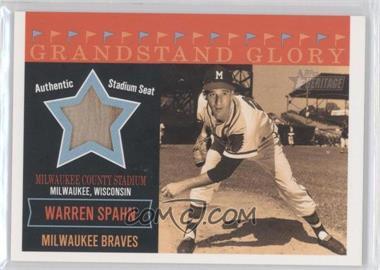 2003 Topps Heritage Grandstand Glory #GG-WS - Warren Spahn