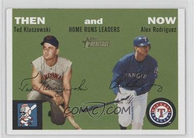 2003 Topps Heritage Then and Now #TN1 - Alex Rodriguez, Ted Kluszewski