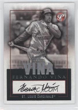 2003 Topps Pristine Autographs #TPA-FV - Fernando Vina
