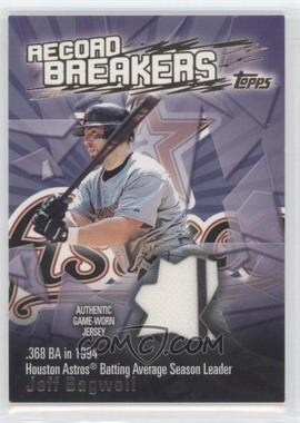 2003 Topps Record Breakers Relics #RBR-JB - Jeff Bagwell