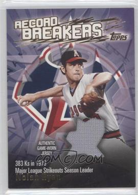 2003 Topps Record Breakers Relics #RBR-NR - Nolan Ryan
