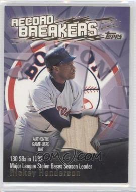 2003 Topps Record Breakers Relics #RBR-RH - Rickey Henderson