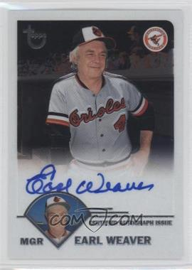 2003 Topps Retired Signature Edition Autographs #TA-EW - Earl Weaver