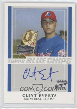 2003 Topps Team Topps Blue Chips Autographs [Autographed] #TT-CCE - Clint Everts