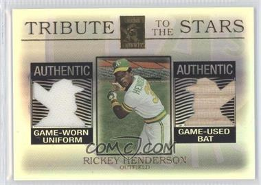 2003 Topps Tribute - Contemporary Edition Tribute to the Stars Dual Relics #TS-RH - Rickey Henderson