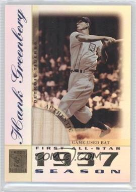 2003 Topps Tribute - Perennial All-Star Edition - Relics #TR-HG - Hank Greenberg