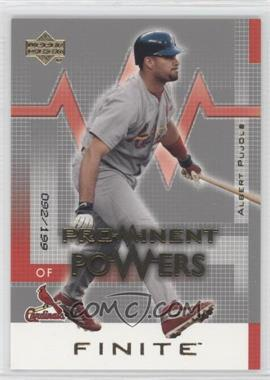 2003 Upper Deck Finite [???] #152 - Albert Pujols /199