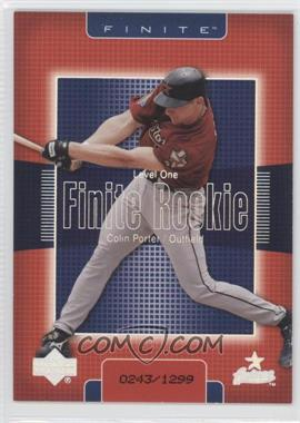 2003 Upper Deck Finite [???] #217 - Colin Porter /1299