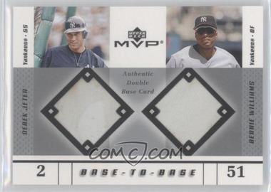 2003 Upper Deck MVP - Base-To-Base #BB-JW - Derek Jeter, Bernie Williams