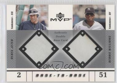 2003 Upper Deck MVP Base-To-Base #BB-JW - Derek Jeter, Bernie Williams