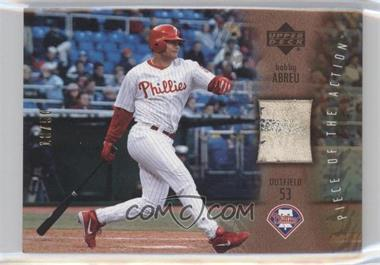2003 Upper Deck Piece of the Action Gold #PA-BA - Bobby Abreu /50