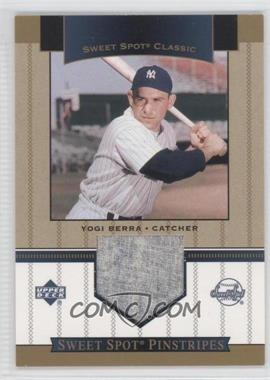2003 Upper Deck Sweet Spot Classic Pinstripes #SP-YB - Yogi Berra