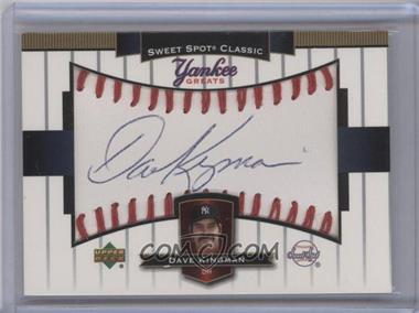 2003 Upper Deck Sweet Spot Classic Yankee Greats Autographs #YG-DK - Dave Kingman