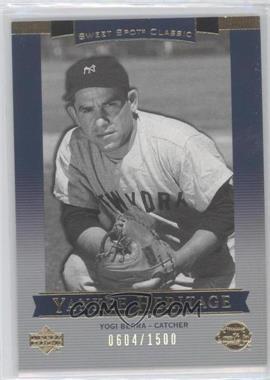 2003 Upper Deck Sweet Spot Classic #150 - Yankee Heritage - Yogi Berra /1500