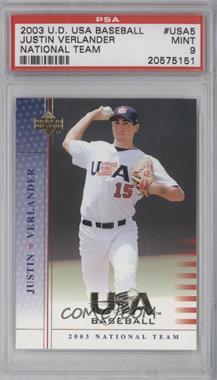 2003 Upper Deck USA Baseball #5 - Justin Verlander [PSA9]