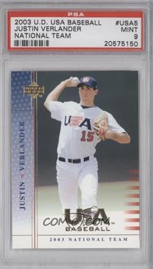 2003 Upper Deck USA Baseball #USA 5 - Justin Verlander [PSA9]
