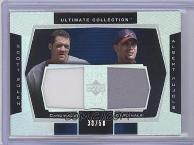 2003 Upper Deck Ultimate Collection [???] #DJ-SA - Scott Rolen, Albert Pujols