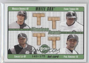 2003 Upper Deck Vintage - Timeless Teams Bats #T-OTLK - Carlos Lee, Frank Thomas, Paul Konerko, Magglio Ordonez /175